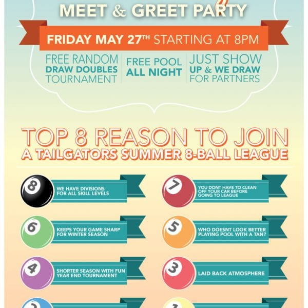 Tailgators Summer League Meet & Greet Party | Tonight!