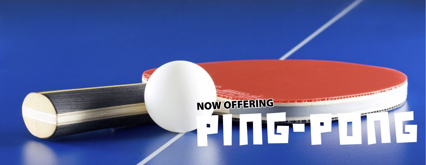 Tailgators now offers PING PONG