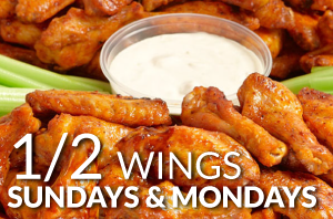Happy Thanksgiving! We are OPEN and Chicken Wings are Half Price!