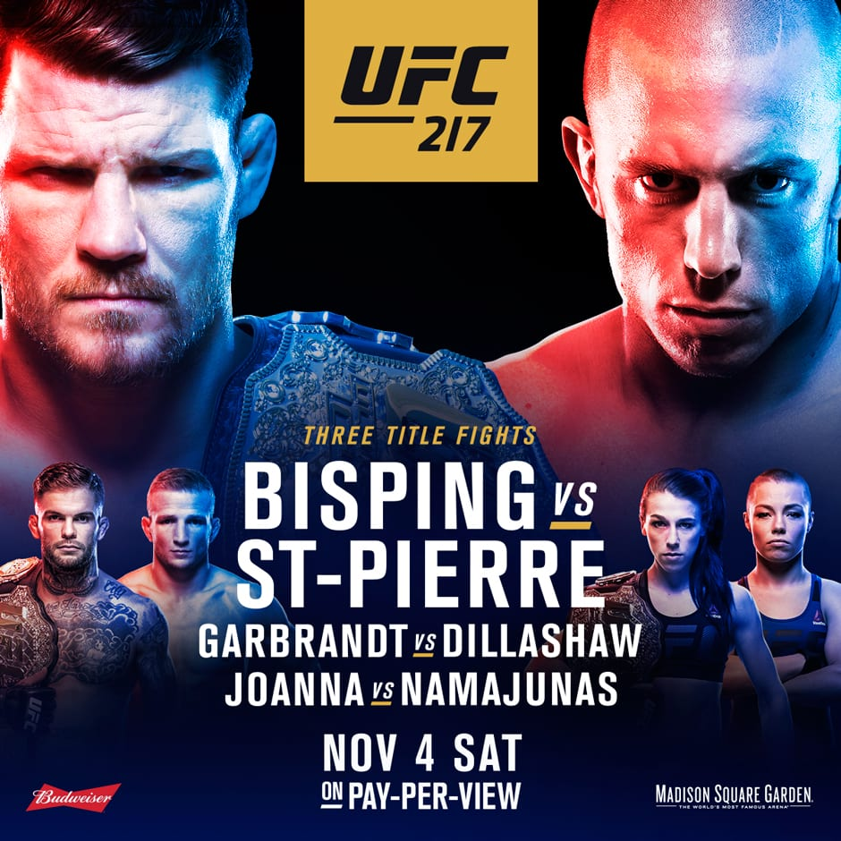 UFC 217 results: St-Pierre chokes Bisping; Three new